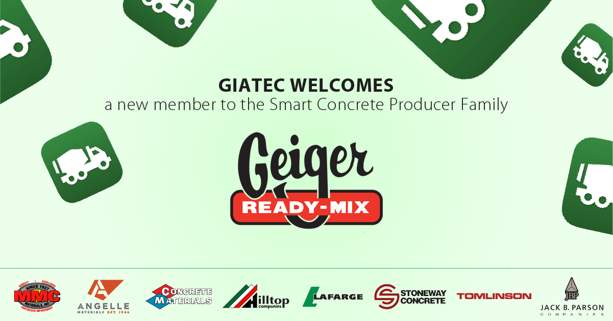 Geiger Ready Mix joins Giatec as a Smart Concrete Partner