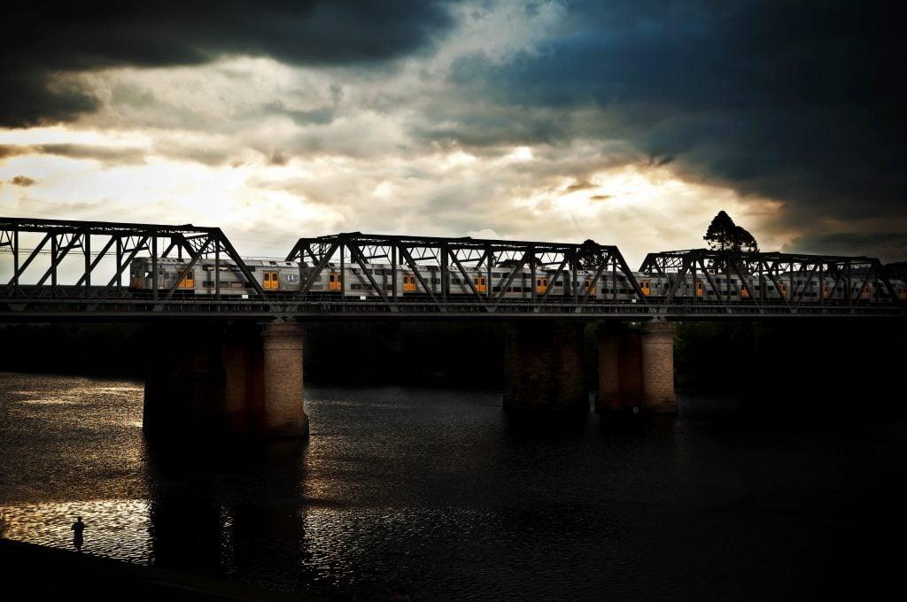 Old Concrete Bridge at Sunset