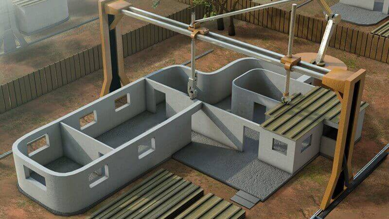 3D-Printed House Design - Concrete 3D Printing